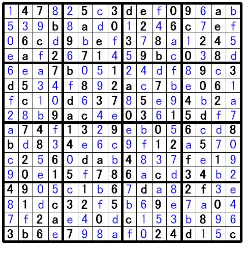 ナンプレ超上級問題の解答1
