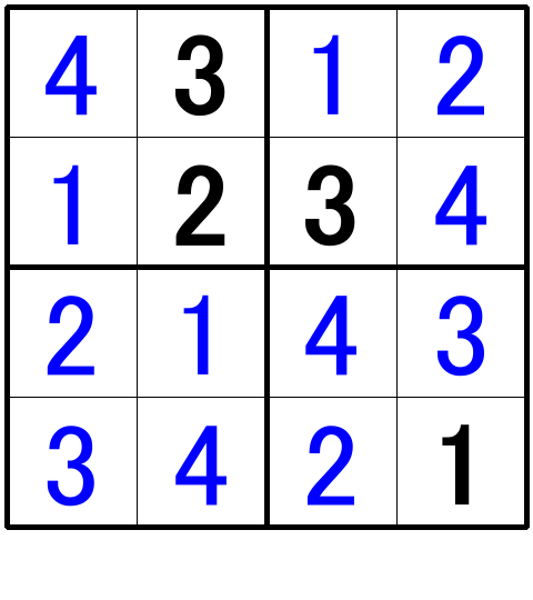 ナンプレ超初級問題5の解答