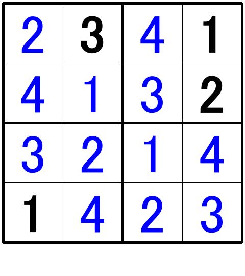 ナンプレ超初級問題6の解答