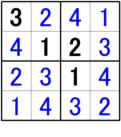 ナンプレ超初級問題7の解答
